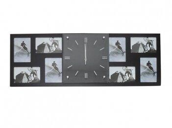 הדפסה על שעון במרכז ותמונות בצדדים
