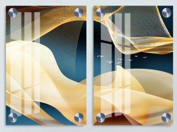 זוג תמונות עשויות זכוכית